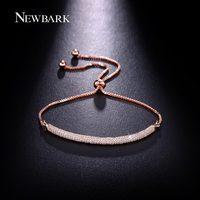 NEWBARK New High Quality Retractable Bracelet For Women 3 Rows AAA CZ Cubic Zirconia Adjustable Charm