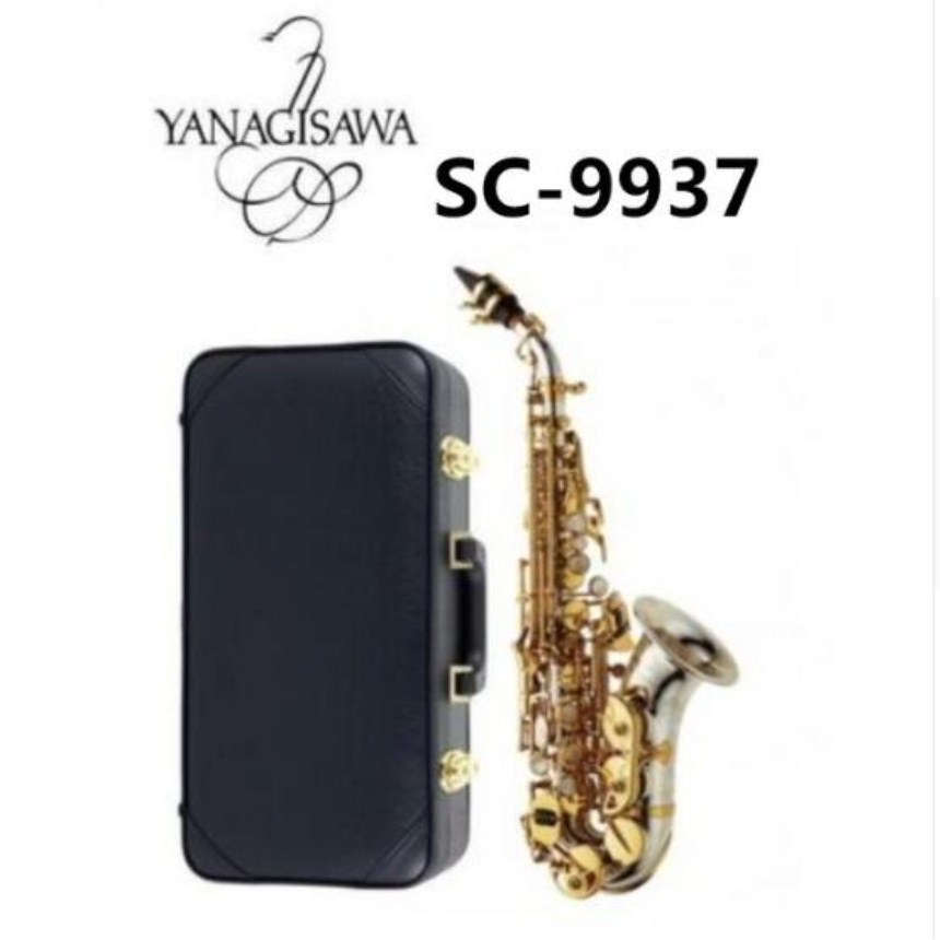 New YANAGISAWA Curved Soprano Saxophone SC-9937 Bb Silvering Brass High Quality Sax Professional Mouthpiece Patches Pads Reeds бриджи bodo бриджи