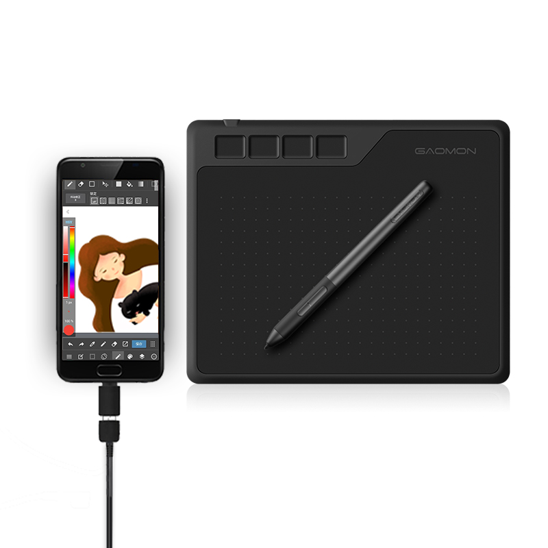 <font><b>GAOMON</b></font> <font><b>S620</b></font> 6.5 x 4 Inches 8192 Level Battery-free Pen Support Android Windows Mac Digital Graphic Tablet for Drawing & Game OSU image