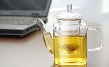 new arrival heat resistant glass flower pumpkin teapot 600ml free shipping