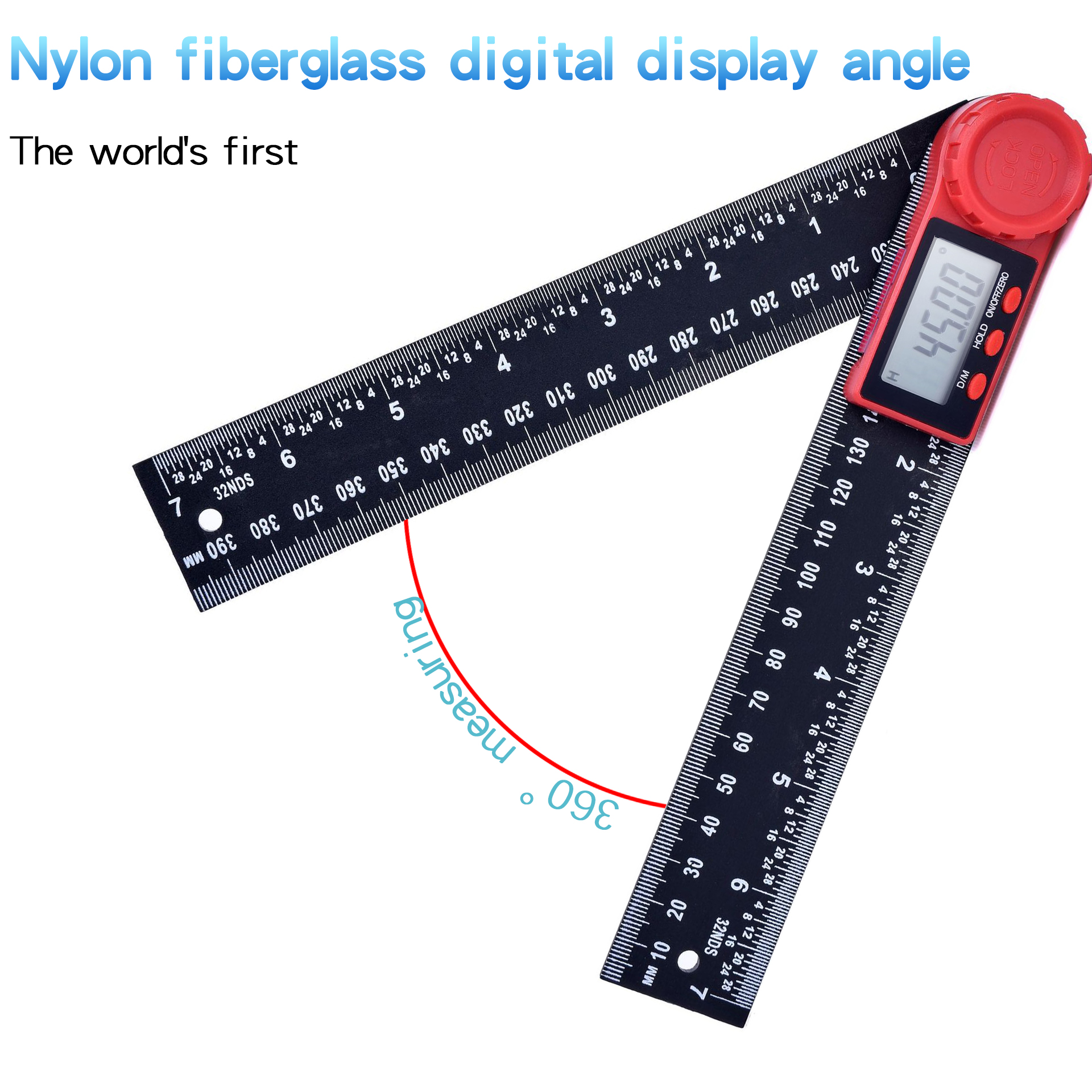 Image 5 - 0 200mm 8'' Digital Meter Angle Inclinometer Angle Digital Ruler Electron Goniometer Protractor Angle finder Measuring Tool-in Protractors from Tools