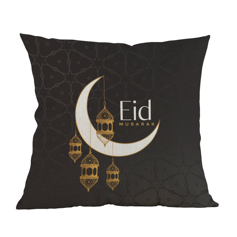 Islamic Month Ramadan Muslim moon mosque printed Decor cushion cover Home Decorative for sofa chair seat Pillow case friend gift