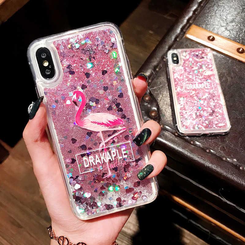 Sıvı su çantası için yumuşak kapak Samsung Galaxy S5 S6 S7Edge S8 S9 S10 Lite artı A40 A70 balina Unicorn minnie telefon kılıfları