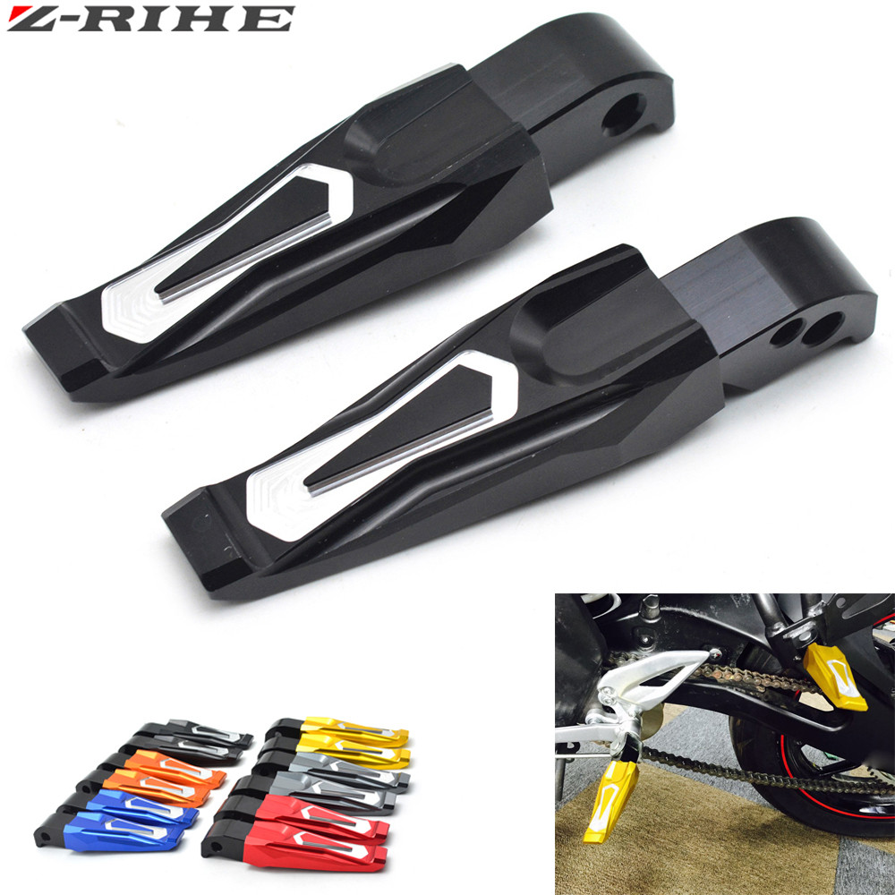 2016 New Motorcycle Accessories CNC Aluminum Motorcycle Rear Passenger Foot Pegs Pedals Footrests For Yamaha MT 09 MT 09 MT09