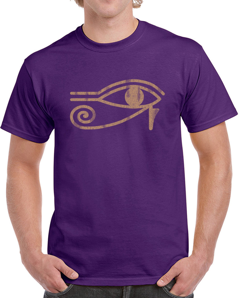 T Shirt Design Template Casual Crew Neck Loose Eye Of Ra Egypt ...