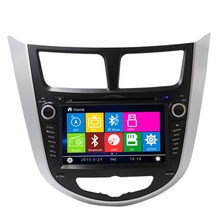 Double din car Radio Navigation GPS For Hyundai Verna Bluetooth DVD support TV steering wheel control USB  Host RDS Free Map