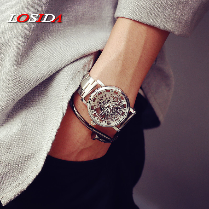 Katso naiset Losida-brändi ylellisyyttä muoti rento kvartsi - Miesten kellot - Valokuva 5