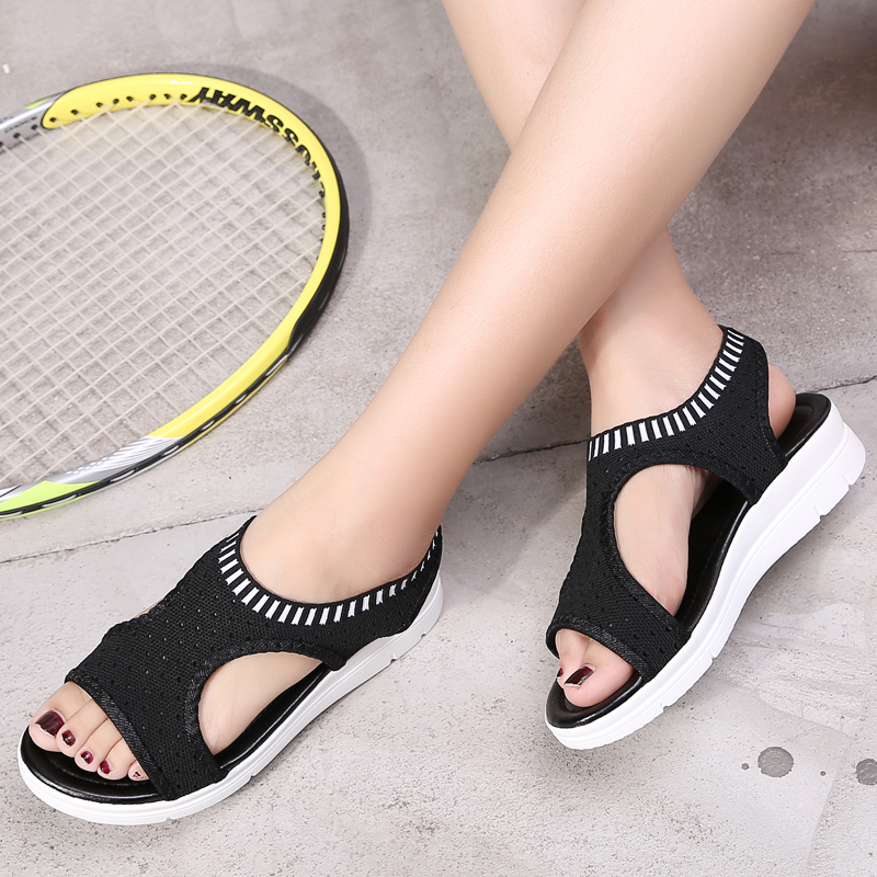 Bomlight Size 45 Women Sandals for 2018 New Stretch