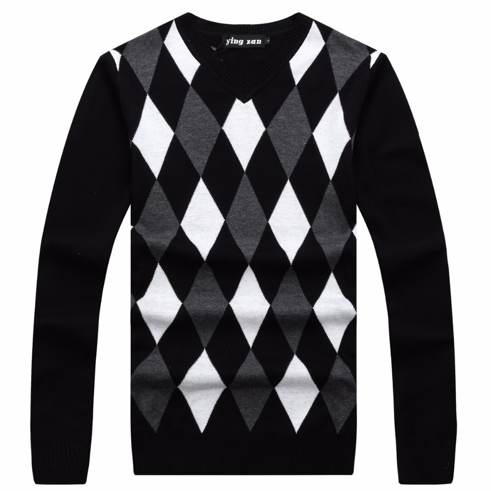 Men's Sweaters Pullover O-Neck Long-Sleeve Knitted-Pattern Male Casual Fashion Solid