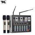 TKL DSP8 7-канальный миксер усилитель с беспроводным микрофоном DJ звуковая микшерная консоль с USB 48В фантомная мощность для караоке сцены