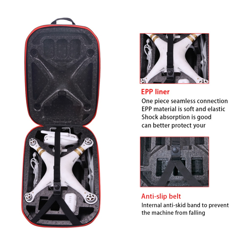 2016 phantom 3 Hardshell Bag Backpack Shoulder Carry Case Hard Shell Box for DJI Phantom 3 Standard FPV Drone Quadcopter rc dji mavic pro professional waterproof drone bag hardshell portable case handbag backpack battery charger storage bag