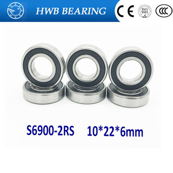 Free Shipping 20 PCS S6000-2RS Bearings 10x26x8 mm Stainless Steel Ball Bearings