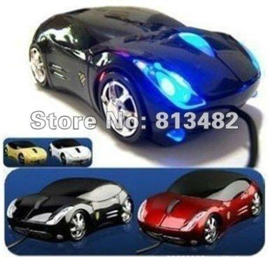 Free Shipping Wholesale Car Shape USB 3D Optical Mouse Mice for Computer Laptop