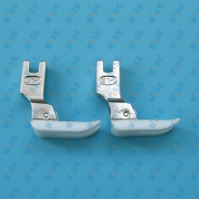 TEFLON BOTTOM PRESSER FOOT MT1-HIGH SHANK, SINGLE NEEDLE HOME & INDUSTRIAL #MT1 (2PCS)