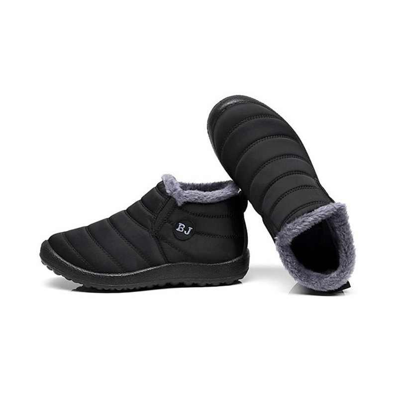 Новинка 2018, женские зимние ботинки, теплые плюшевые Нескользящие теплые  непромокаемые лыжные ботинки унисекс, e14ff16566c