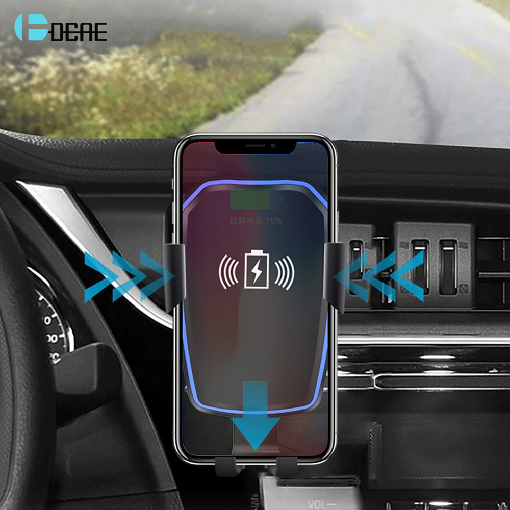 dcae car mount qi wireless charger for iphone x xs 8 plus. Black Bedroom Furniture Sets. Home Design Ideas