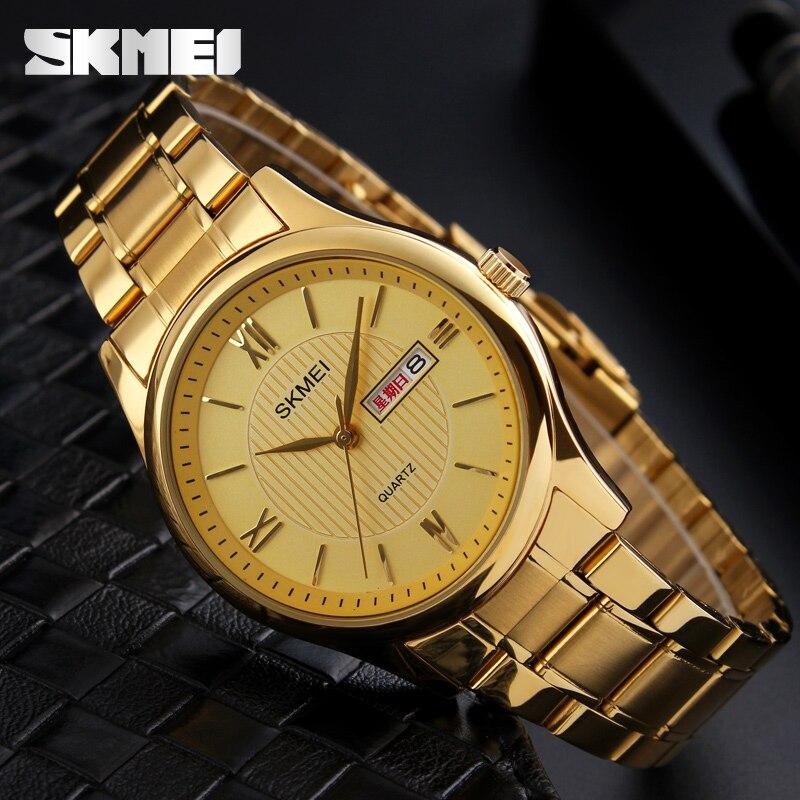 Fashion Business Casual Men's Watches SKMEI Luxury Brand Quartz Watch Men Display Date Week Men Wristwatches relogio masculino цена