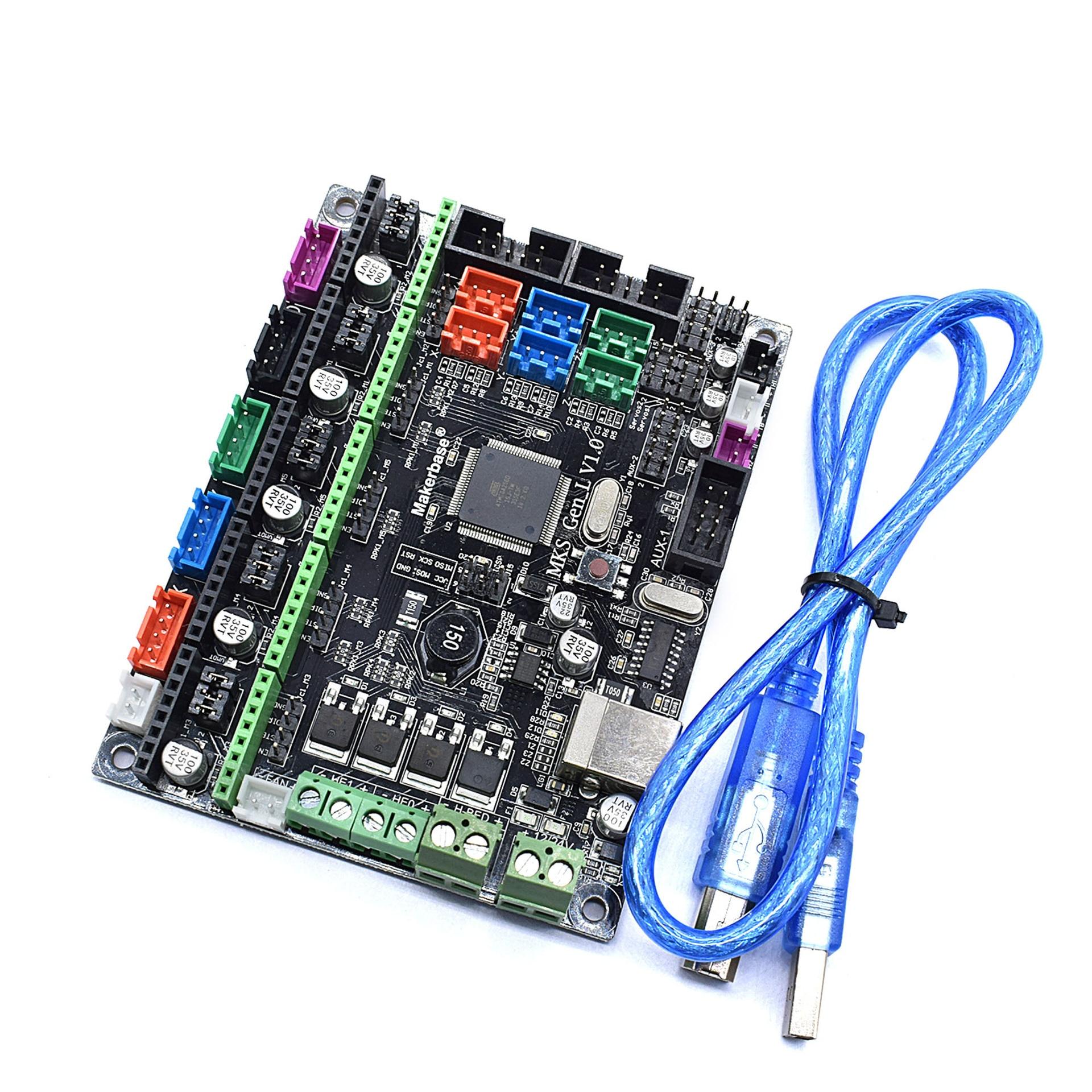 MKS Gen L V1.0 carte contrôleur intégré carte mère compatible Ramps1.4/Mega2560 R3 DRV8825/TMC2100 pour tevo 3d imprimante pièces