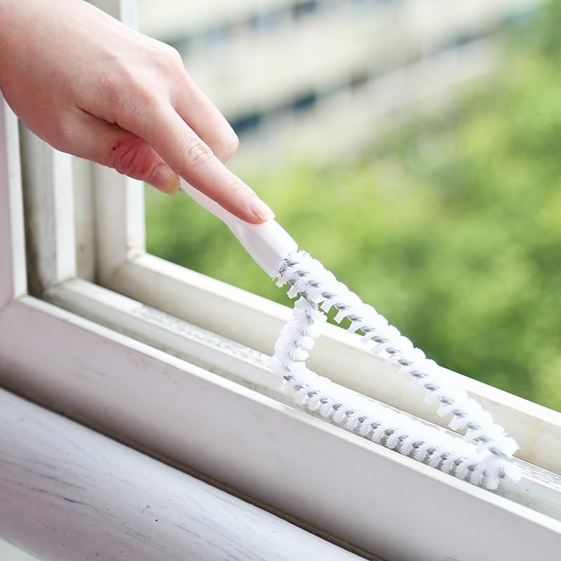 Multi-purpose Cleaning Tools Window Slot Cleaning Brush Kitchen Stove Cushion Scrubbing Bench Scrubbing White Triangluar Brushes