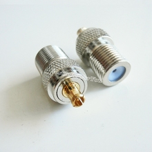 1x F TV Female Jack To MCX Male Plug RF Connector Straight F/M Adapter 75 Ohm(China)