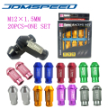Xpower -20 PCS/set UNIVERSAL D1 SPEC JDM RACING WHEEL LUG NUTS M12X1.5MM  FOR HONDA TOYOTA FORD