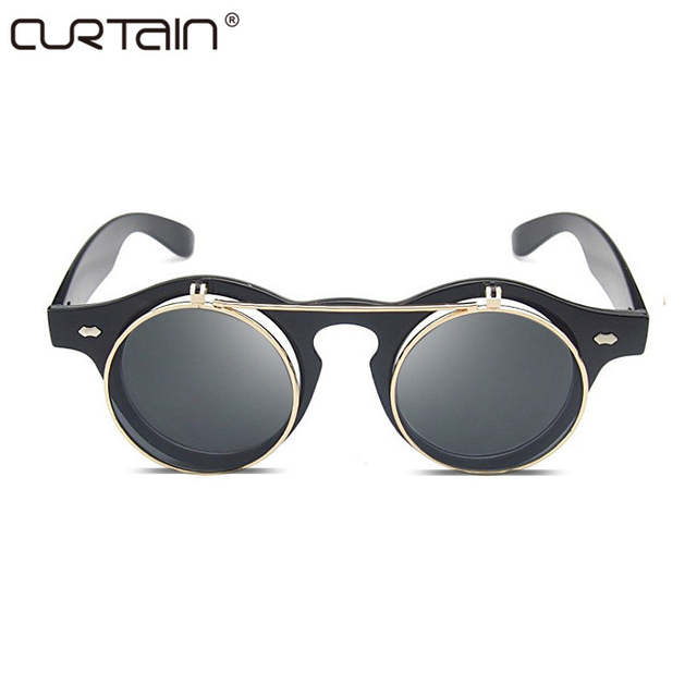 c8b1d4760fe Online Shop CURTAIN Fashion retro sunglasses ladies brand designer retro sunglasses  female glasses steam punk mirror Oculos De Sol