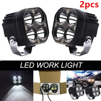 Car Accessories 40W 3 inch LED Work Light 12V 24V Tractor lights for Offroad Auto SUV 4X4 Truck ATV 4WD Motorcycle Headlight 2pc