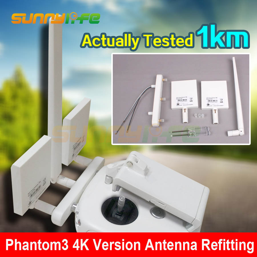 WIFI Transmission Antenna Refitting Long Range Extender Modification FOR  DJI Phantom 3 4K Version Remote Controller