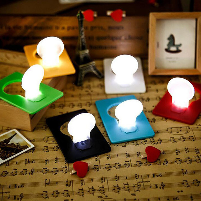 Christmas Night Lights Portable Led Card Pocket Light Bulb Lamp Wallet Size In Purse Convenient Z3