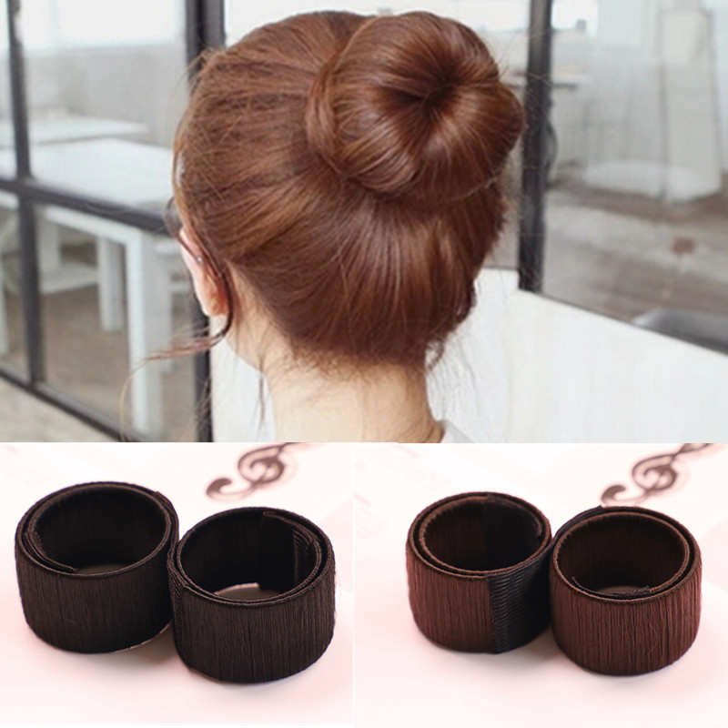 Hair Accessories Synthetic Wig Donuts Bud Head Band Ball French Twist Magic DIY Tool Bun Maker Sweet Dish Made Hair Band заколка french twist