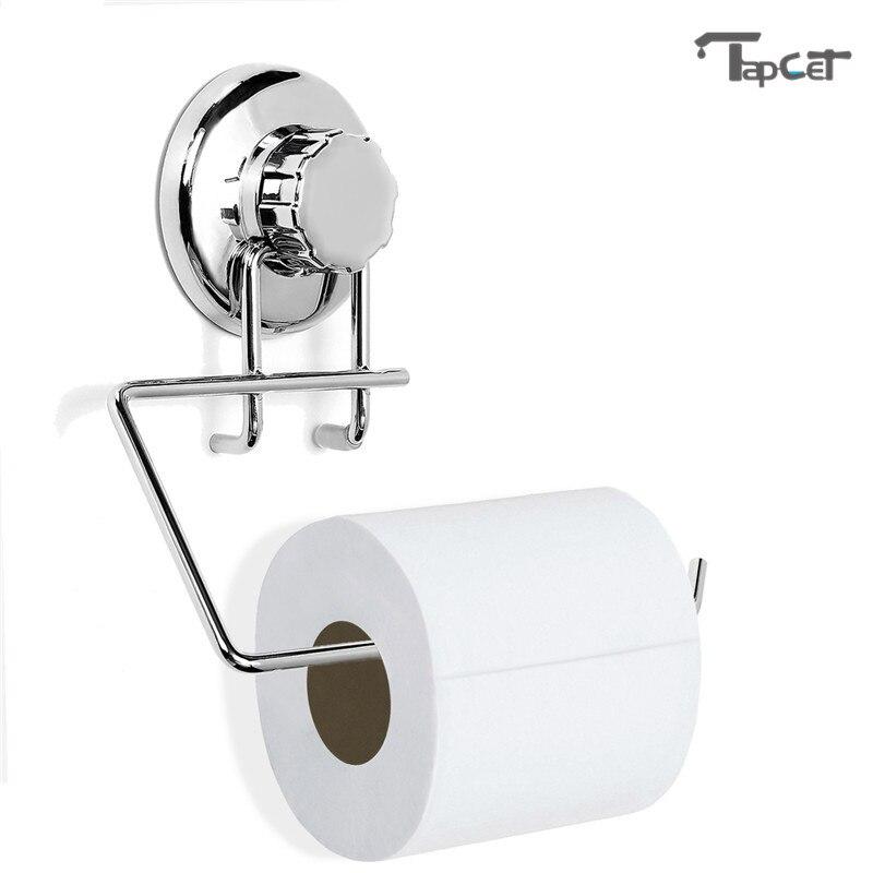 TAPCET poderoso tonto de los titulares de papel copa de succión al vacío de baño percha de papel rollo de papel tejido titular estante de toalla