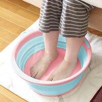 Japan Imported Folding Basin Portable Travel Large Capacity Washbasin Laundry Foot Bath Washtub Collapsible Camping Bucket
