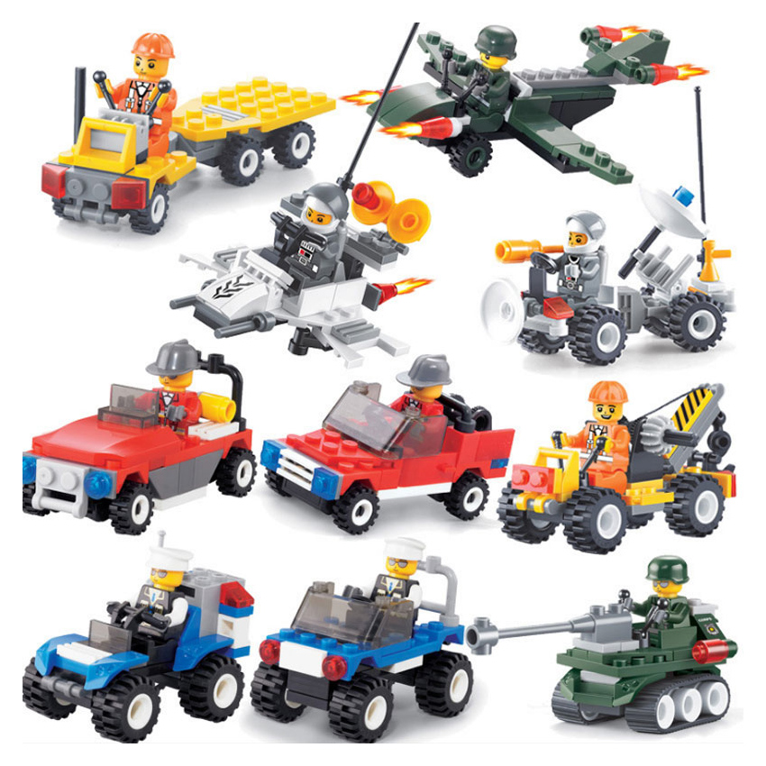 City Series Police's Car 12 Colors Fighter Educational Building Blocks Toys Compatible With Legoingly City Gift For Kids Bk3133