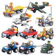 Şehir serisi polis arabası için 12 renk Fighter eğitici oyuncak inşaat blokları ile uyumlu legoingly şehir hediye çocuklar için bk3133