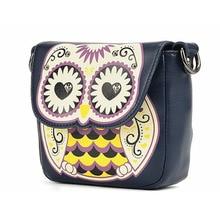 Cute bags Women's Splicing Color Shoulder Cross Body Bags Owl Pattern Holder Cover School Handbags Small Bag girls fashion bags