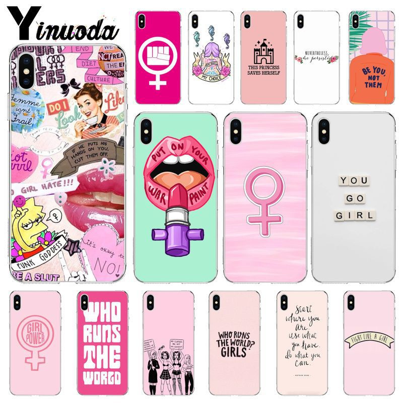 Yinuoda feminist logo Cute Pretty Cell Phone Bag Case for Apple iPhone 8 7 6 6S Plus X XS MAX 5 5S SE XR Cell Cases Сотовый телефон