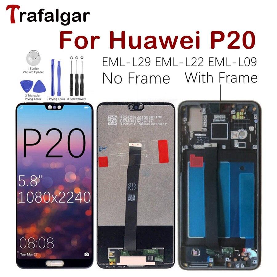 Huawei P20 EML L29 LCD Display Touch Screen Digitizer EML L22 EML L09 EML AL00 For