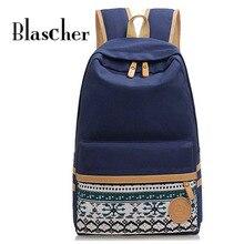 Blascher Canvas Printing Backpack Cute School Backpacks for Teenager Vintage Laptop Bag Rucksack Backpack School Bags SCC10