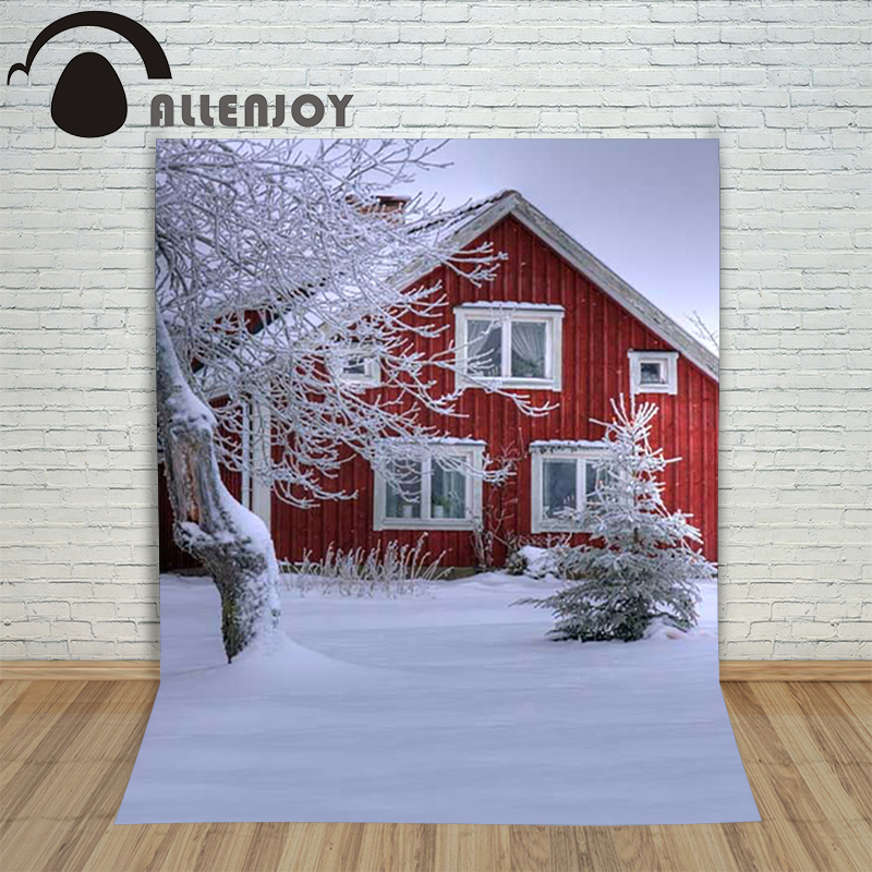 Christmas children's photo background Snow House Winter Tree backdrop photography vinyl new year holiday lovely christmas photographic background snow snow in winter new year photo vinyl cloth year of the rooster