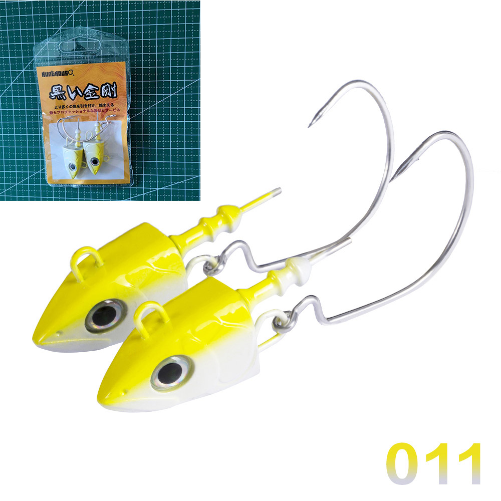 HUNTHOUSE  Black Minnow Jig Head Fishing Lure Soft Pike Lure 25-120g Bass Fishing Shad Soft Bait Boat Code Seabass Bait For Zand