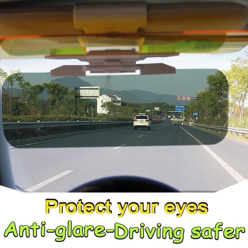 LOEN Car Sun Visor sunshade daytime Anti-glare Night vision glasses car styling for chevrolet hyundai ford toyota honda kia