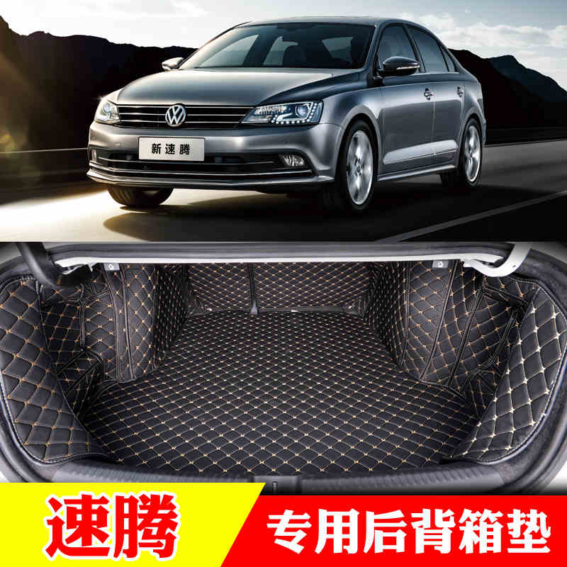 custom fit pu leather car trunk mat for volkswagen sagitar vw jetta mk6 2012 2013 2014 2015 2016 2017 5d cargo liner for volkswagen vw new sagitar 2012 2013 2014 jetta 6 rear trunk switch cover decoration cover sticker stainless steel 1pc