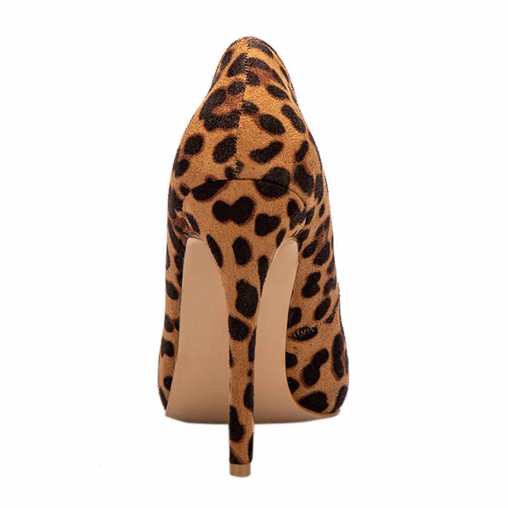 ผู้หญิงเสือดาวชี้นิ้วเท้า Causal รองเท้าเดี่ยวรองเท้าแตะฤดูร้อนผู้หญิงรองเท้าแตะรองเท้าส้นสูงรองเท้าผู้หญิง