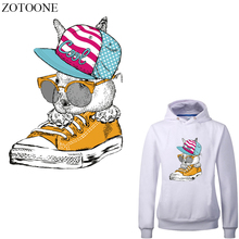 ZOTOONE Animal Shoes Hat Patch Iron-on Transfers for Clothing DIY T-shirt Heat Transfer Vinyl Stickers Stripes on Clothes