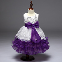 2018 Hot Sale Ruffles Multi Color Ball Gown Flower Girl Dresses Organza Bow Sequined Kommunion Kleid