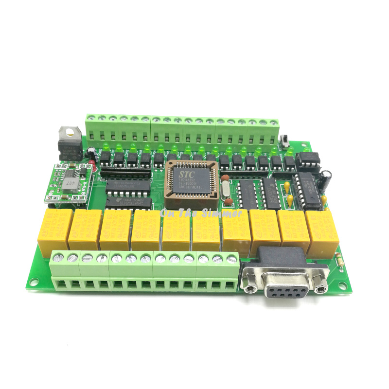 PLC Control Board FX1N 25MR MT 51 programmable microcontroller can even touch screen control panel text