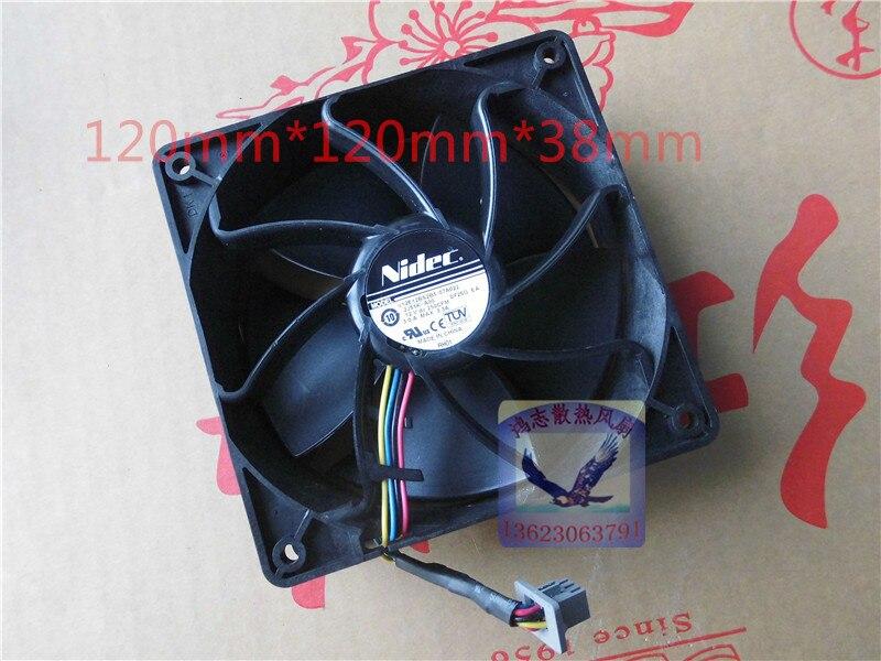 Nidec v12e12bs2b5-07a022 2j51k-a00 12v 3.0a server cooling fan