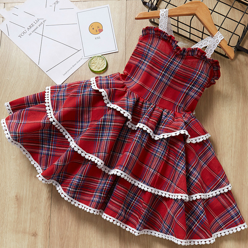 Girls Dresses  Princess Dress Fashion Kids Clothes Europe and the American Baby Dresses Girl Children Birthday Dress 40(China)