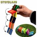 UTOYSLAND 20 Unids/set Magia flap juguetes de madera colorido juego de mesa juguetes de coordinación mano-ojo ejercicio juguete Montessori juguetes educativos