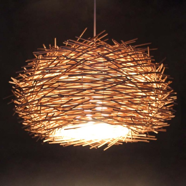 Dia 157 wicker bird nest lampshade handmade pendant lighting home dia 157 wicker bird nest lampshade handmade pendant lighting home or bar deco pendant mozeypictures Gallery